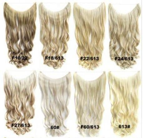 clip extensions blond