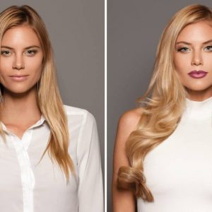 clip-in-hairextensions voor en na