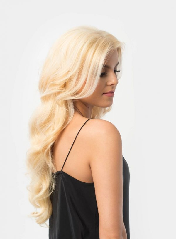Clip in extensions licht blond